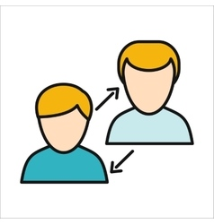 Human interaction icon vector