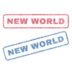 new world textile stamps vector image vector image