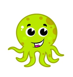 octopus cartoon vector image vector image