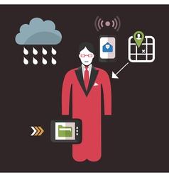 Online business2 vector image vector image