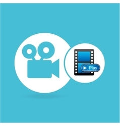 Play movie film camera design vector