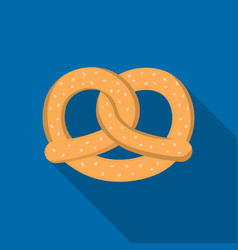 pretzel icon in flat style isolated on white vector image vector image