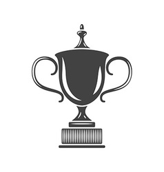 Prize trophy cup black icon logo element flat vector