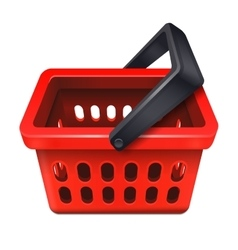 Red shopping basket icon 10eps vector