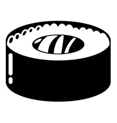 sushi fish icon simple black style vector image vector image