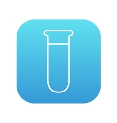 Test tube line icon vector image vector image