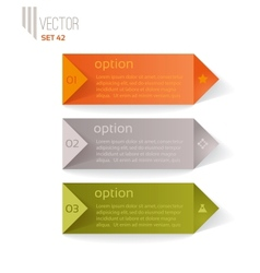 Three numbered items for infographics vector image