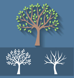 Tree and tree without leaves icon vector