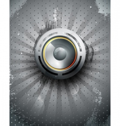 vector musical speaker icon vector image vector image