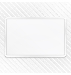 White frame on striped background vector