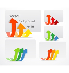 Set of cards with color arrows vector image