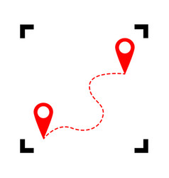 location pin navigation map gps sign  red vector image