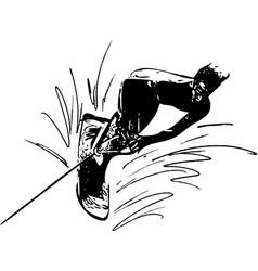 water skiing vector image