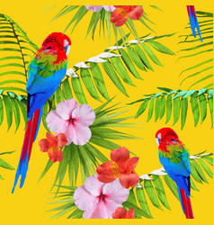 Exotic tropical summer decoration seamless pattern vector