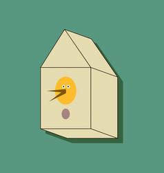 Flat icon design collection bird house in sticker vector