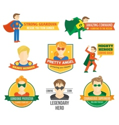 Superhero label vector