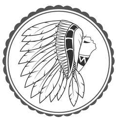 Native american artwork and vintage pictures vector
