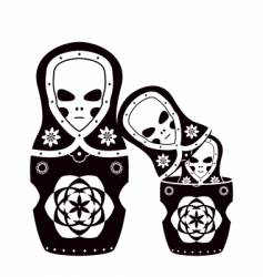 Russian dolls vector