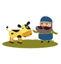 Best flat farmer vector