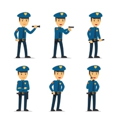 Police officer character vector