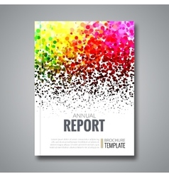 Business report design background with colorful vector