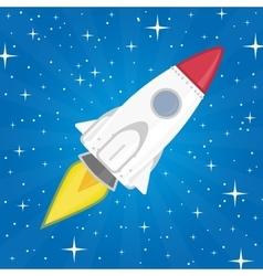 A rocket in space vector