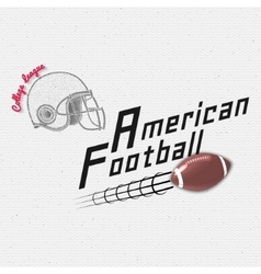 American Football badges logos and labels for any vector image vector image