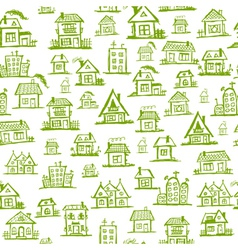 Art houses seamless background for your design vector image