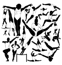 athletic and gymnastics vector image vector image