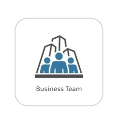 Business Team Icon Flat Design vector image vector image
