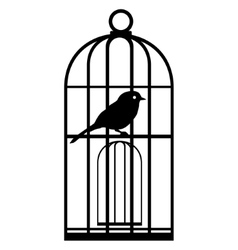 Cage with birds-2 vector