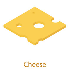 Cheese icon isometric 3d style vector