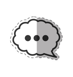 cloud speech communication icon vector image vector image