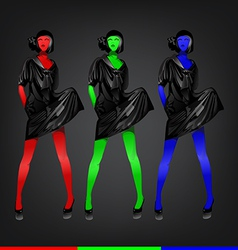 Colorful fashion vector