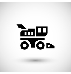 Combine harvester icon vector image vector image