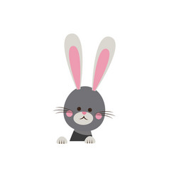 Cute easter bunny happy adorable vector