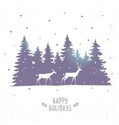 deers in forest vector image