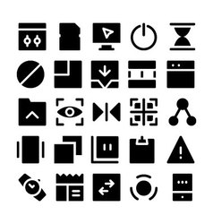 Design and Development Icons 7 vector image