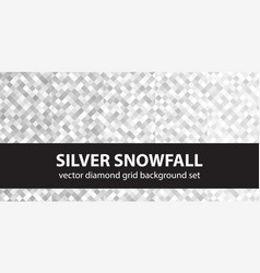 diamond pattern set silver snowfall seamless vector image vector image