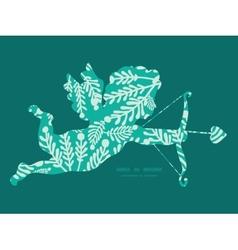 Emerald green plants shooting cupid vector