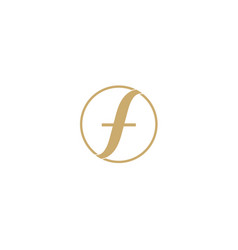 f letter logo abstract design for fashion business vector image vector image