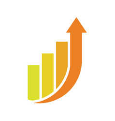 financial planning rise up vector image
