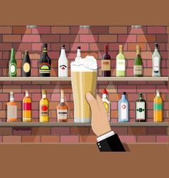 Interior of pub cafe or bar vector