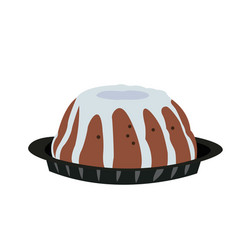 Isolated traditional jewish dessert vector
