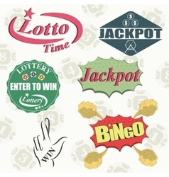 Lottery vector image vector image