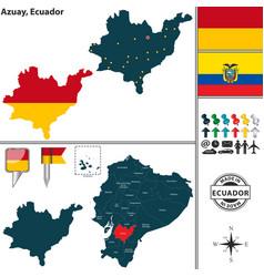 Map of azuay ecuador vector