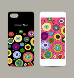 Mobile phone cover design abstract circles vector