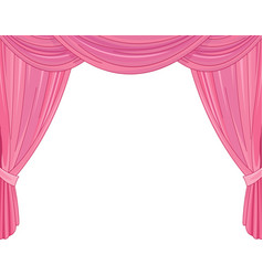 Pink curtains vector