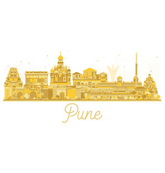 pune skyline golden silhouette vector image vector image