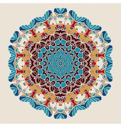 Round Mandala Stylized Ornate Oriental Lace vector image vector image